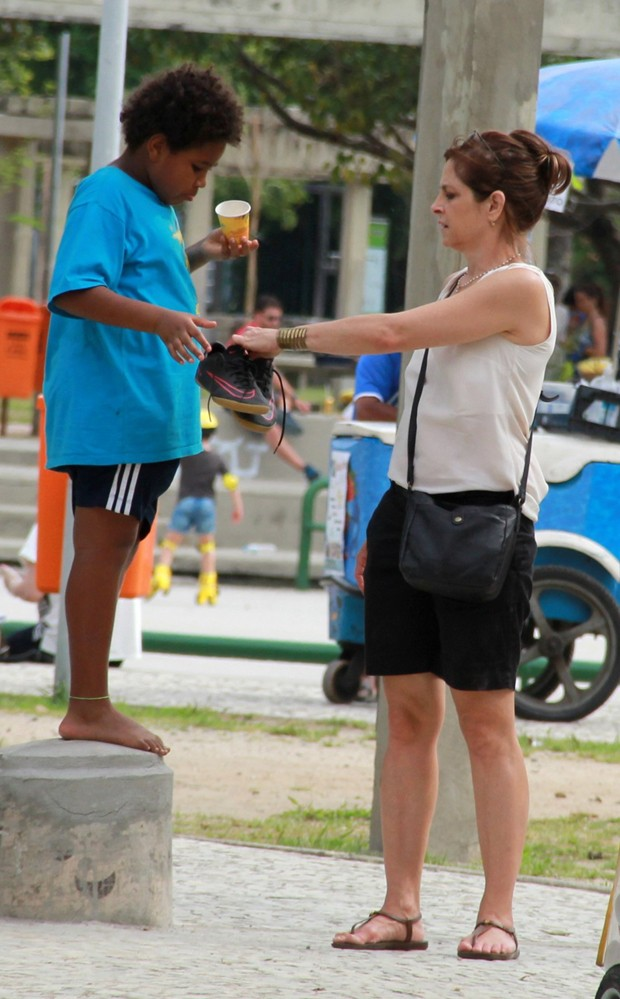 Drica Moraes e o filho, Matheus (Foto: AgNews)