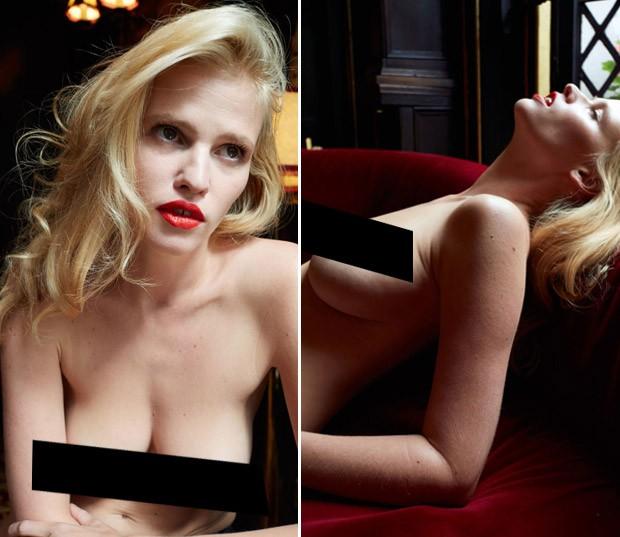 Lara Stone posa nua e sem photoshop (Foto: Reproduo/Juergen teller para System Magazine)