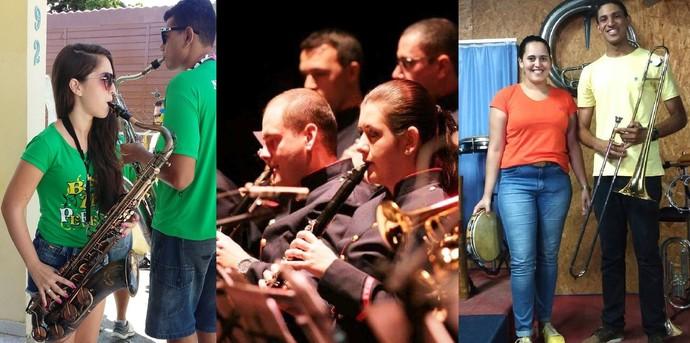 Músicos dividem os palcos com companheiros em SC (Foto: Montagem/Gshow)