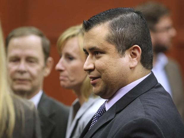 Ex-vigia George Zimmerman no tribunal após ser inocentado (Foto: Joe Burbank/Pool/Reuters)