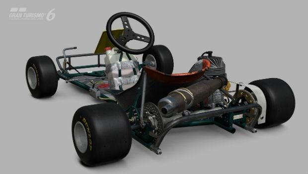 Kart de Ayrton Senna em Gran Turismo 6 (Foto: Divulgação)