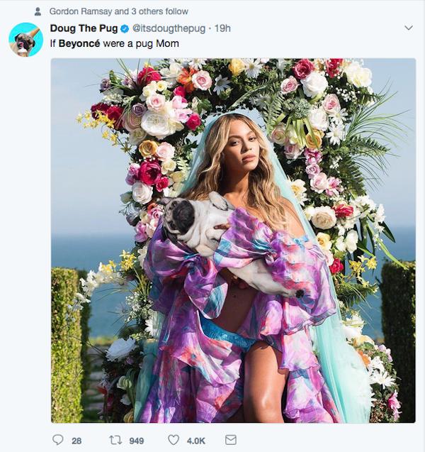Um meme fazendo piada com o possível uso de Photoshop por Beyoncé (Foto: Twitter)