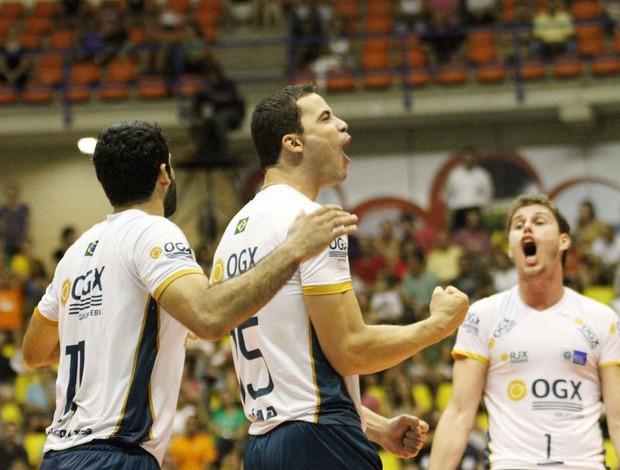 vôlei Thiago, Riad e Bruninho Rio de Janeiro (Foto: Alexandre Arruda / CBV)