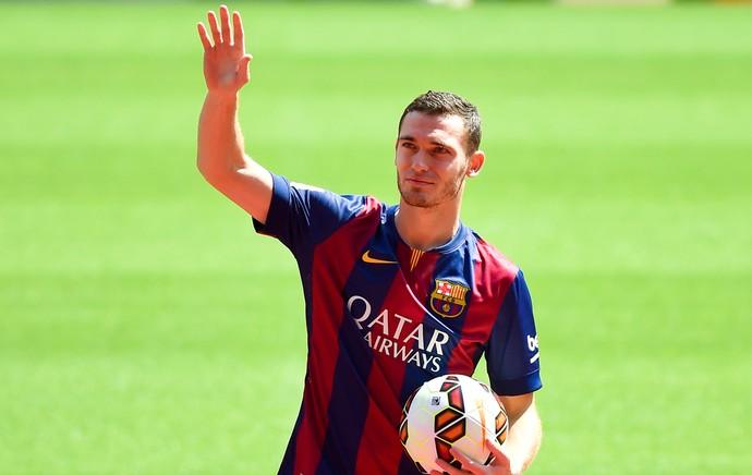 Apresentação do Vermaelen no Barcelona (Foto: Getty Images)
