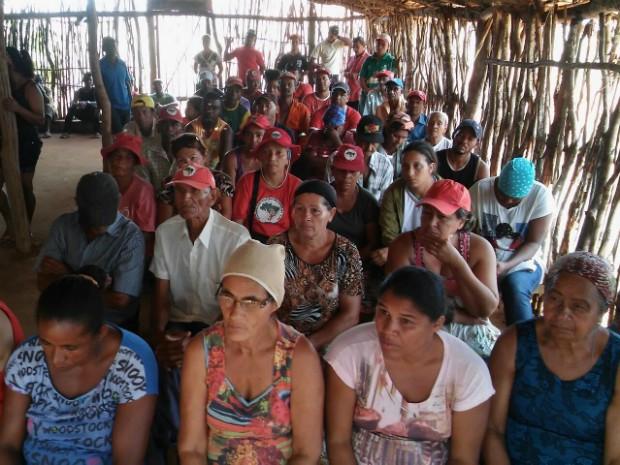 Sem-terra querem negociar assentamento para 150 famílias na região de Arataca (Foto: Isael Herculano de Santana/Arquivo pessoal)