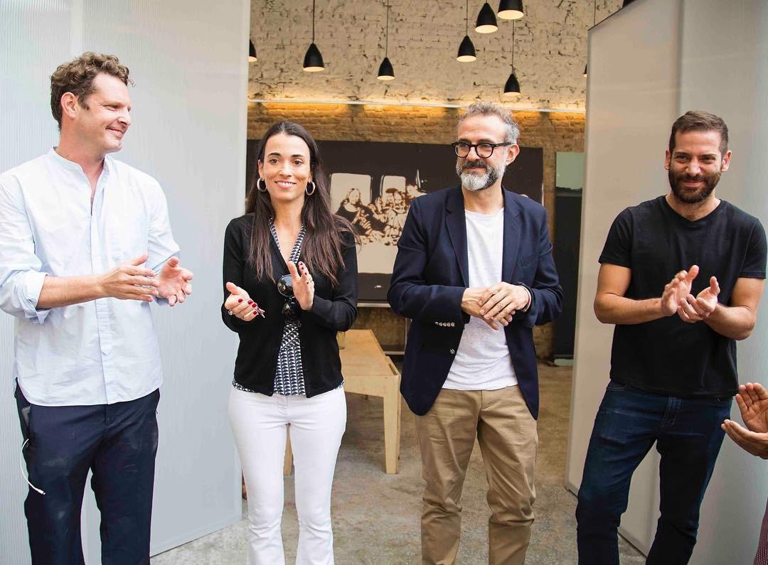 David Hertz, Alexandra Forbes, Massimo Bottura e Gustavo Cedroni (Foto: Reprodução/Instagram)