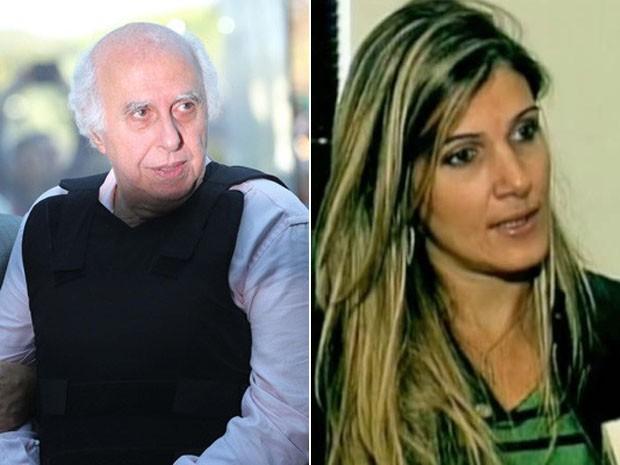 O casal Roger Abdelmassih e Larissa Sacco (Foto: Montagem)