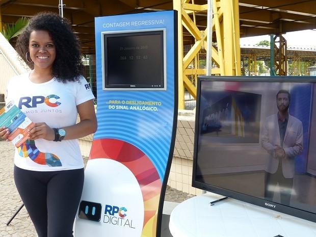 Em Ponta Grossa, a contagem regressiva foi realizada no Terminal Central (Foto: Divulgação/RPC)