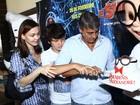 Alexandre Borges comemora aniversário em pré-estreia de filme