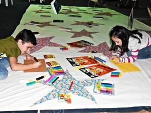 Crianças contaram com espaço lúdico para a contação de história e desenho (Foto: Divulgação)