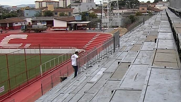 Estádio Onésio Brasileiro Alvarenga - Vila Nova (Foto: Reprodução / TV Anhanguera)