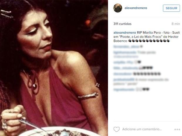 Alexandre Nero homenageou Marília Pêra com foto no Instagram (Foto: Reprodução/Instagram)