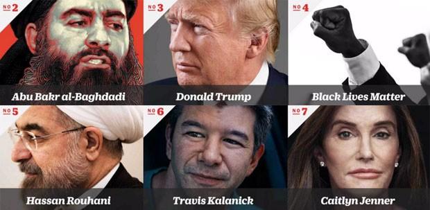 Os outros seis finalistas ao título de pessoa do ano da revista Time em 2015 (Foto: Reprodução/ TIME)