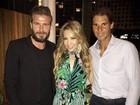 Thalia encontra David Beckham e Rafael Nadal na noite de Miami
