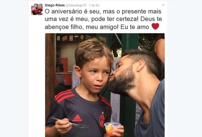 Diego Flamengo filho Davi (Foto: Reprodução/Twitter)