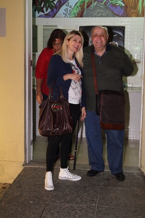 Antônia Fontenelle e Mauro Mendonça em estreia de peça na Zona Sul do Rio (Foto: Anderson Borde/ Ag. News)