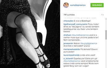 """""""Espero que tenham gostado"""", diz Maitê Proença, após pagar promessa"""