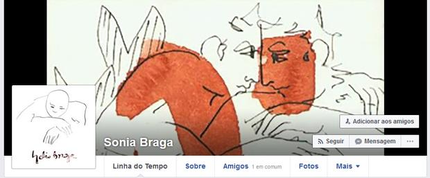Sônia Braga muda fotos no Facebook (Foto: Reprodução / Facebook)