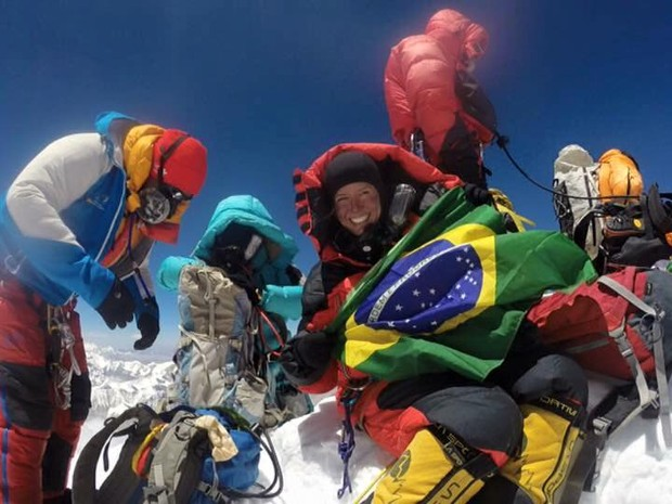 Bauruense atingiu o topo do Everest na quinta-feira  (Foto: Thais Amadei Pegoraro/ Arquivo pessoal )