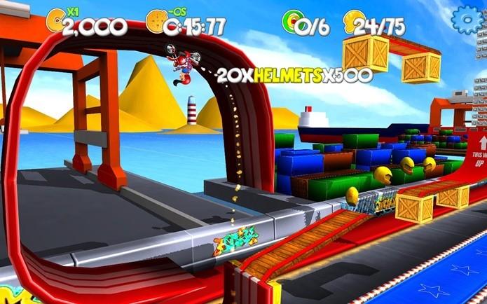 Realize saltos incríveis neste colorido jogo de acobracias (Foto: Divulgação)