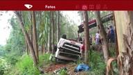 Motorista fica ferido em grave acidente na Rodovia Pedro Cola