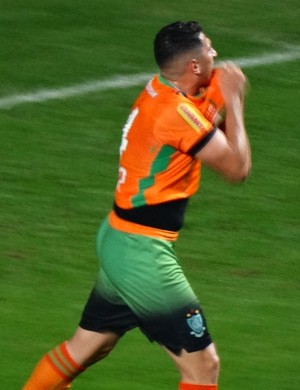 Danilo comemora muito gol marcado contra o Fortaleza (Foto: Maurício Paulucci)