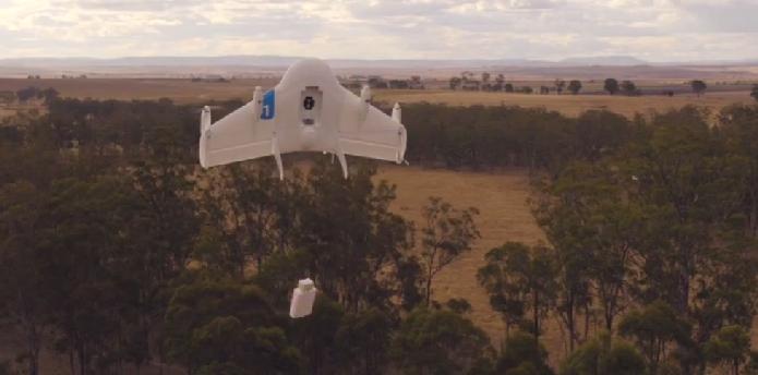 Projeto do Google pretende criar drone para realizar entrega de pacotes (Foto: Reprodução/Google)