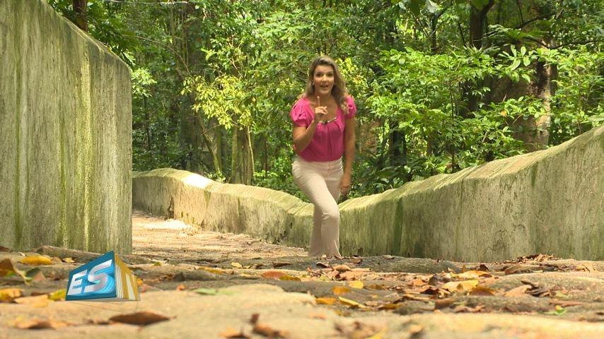 Tatiane Braga apresenta série sobre o Convento da Penha (Foto: Divulgação/ TV Gazeta)