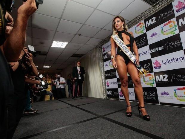 Finalista do concurso Musa do Brasil morava em Niterói, no Rio de Janeiro, mas representava o Mato Grosso (Foto: Musa do Brasil/ Divulgação)