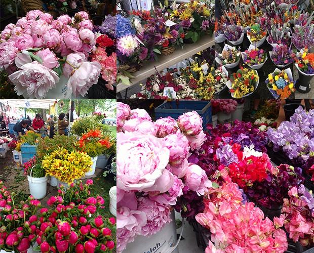 Barraca de flores do Farmer's Market (Foto: Divulgação)