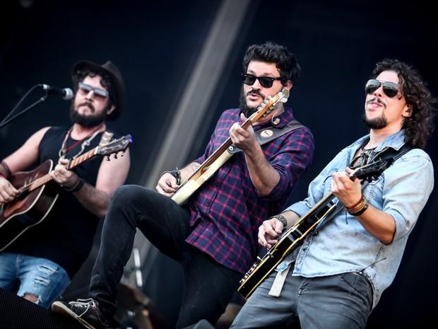 Banda Suricato abriu último dia de Palco Sunset no Rock in Rio 2015 (Foto: Fabio Tito/G1)