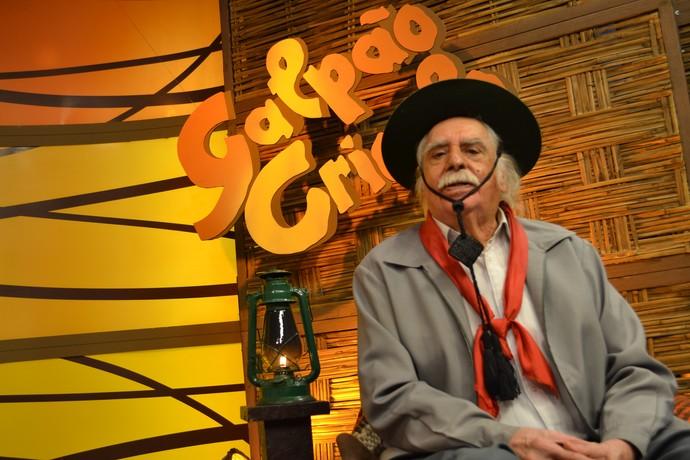 A lenda viva:Paixão Côrtes no Galpão Crioulo deste domingo (11) (Foto: Nice Sordi/RBS TV)