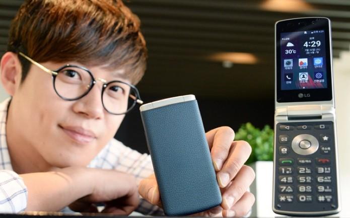 Smartphone de flip da LG tem Android atualizado e teclado físico (Foto: Divulgação)