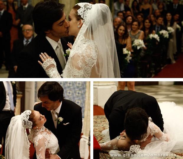 Nicole e Thales se casam (Foto: Amor à Vida)