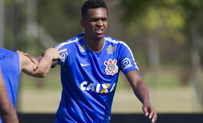 Jô treino Corinthians (Foto: Daniel Augusto Jr / Agência Corinthians)