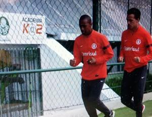 Leandro Damião correu com Fabrício na manhã deste sábado (Foto: Reprodução)