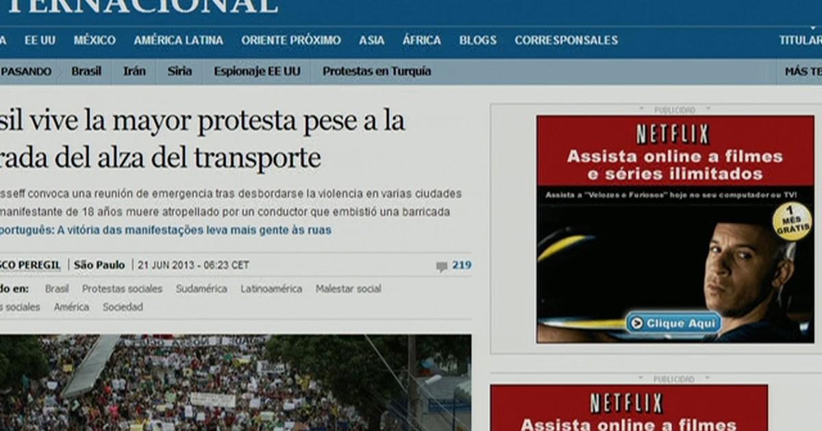Imprensa internacional repercute protestos ao redor do Brasil