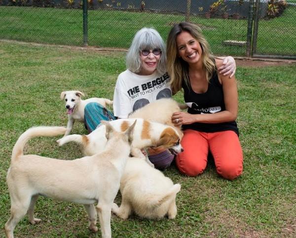 """A cantora surpreendeu Luisa Mell com sua visita: """" (Foto: Guilherme Samora)"""