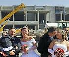 Itaquerão  vira palco de casamento (Nelson Antoine/Fotoarena/AE)