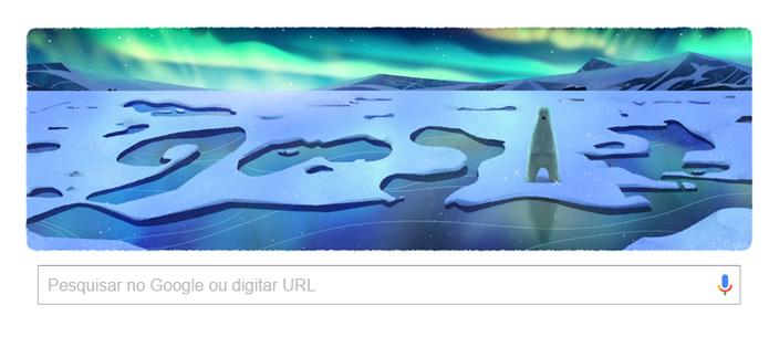 Doodle do Google homenageia o Dia da Terra nesta sexta-feira (Reprodução/Carol Danelli)