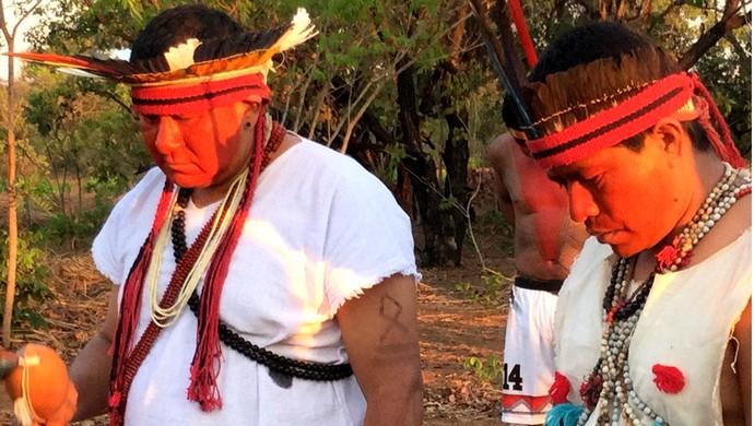 Bênção indígenas (Foto: Stephanie/Secom)