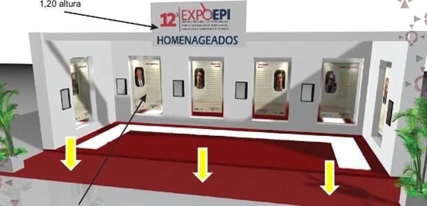 """""""Área carpetada vermelha externa ao estande foi cobrada como se estande fosse"""", diz o relatório da CGU (Foto: Reprodução / relatório CGU)"""