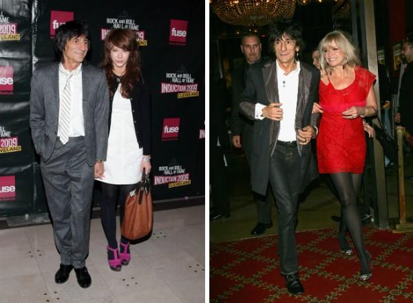 Ron Wood dos Rolling Stones, com Ekaterina Ivanova e Jo (Foto: Getty Images)