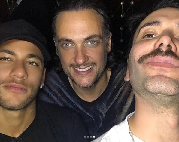 Neymar, Matheus Mazzafera e André Sada em Paris (Foto: Reprodução/Instagram)