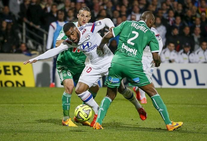 Lacazete Lyon x Saint-Étienne (Foto: Reuters)