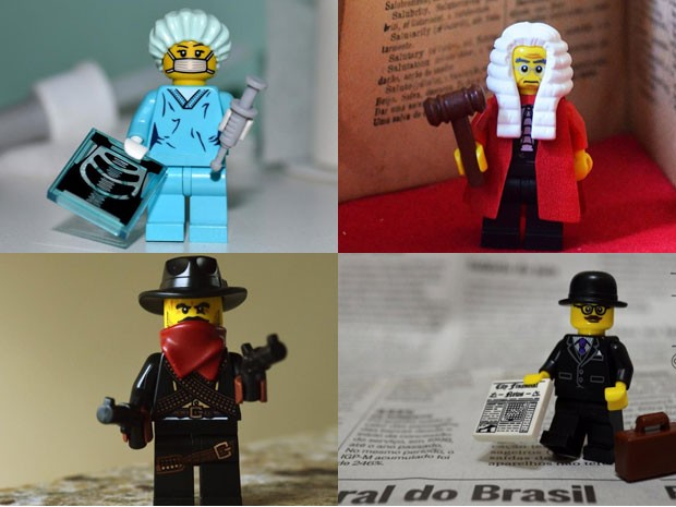 Profissões lego (Foto: Rafael Sobral)