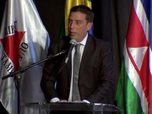 Rodrigo Mattos (PSDB) foi eleito presidente da Câmara Municipal (Foto: Reprodução/TV Integração)