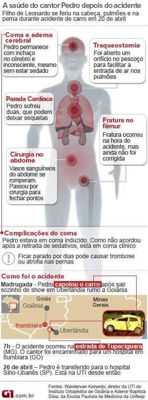 Arte saúde Pedro Leonardo (Foto: Arte/G1)