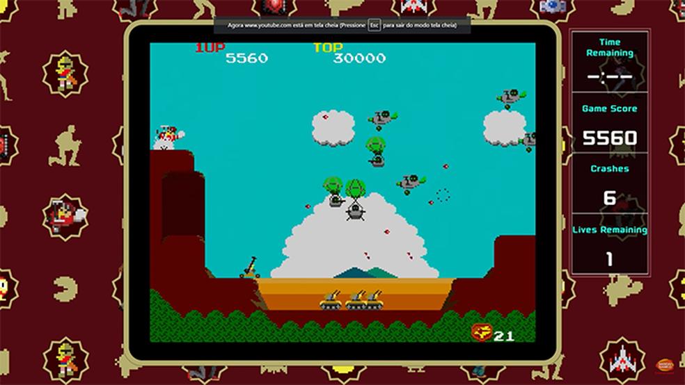 Sucessos dos arcades, como Tank Force, estarão na coletânea Namco Museum para o Nintendo Switch (Foto: Divulgação/Namco)