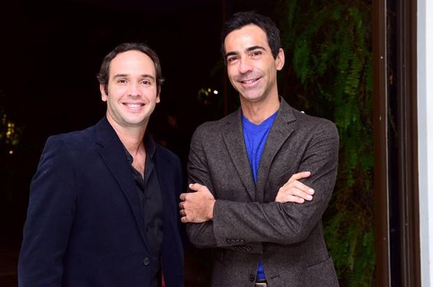Caio Ribeiro e César Tralli (Foto: Leo Franco/AgNews)